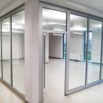 Ścianki szklane składane do Rw = 36 dB