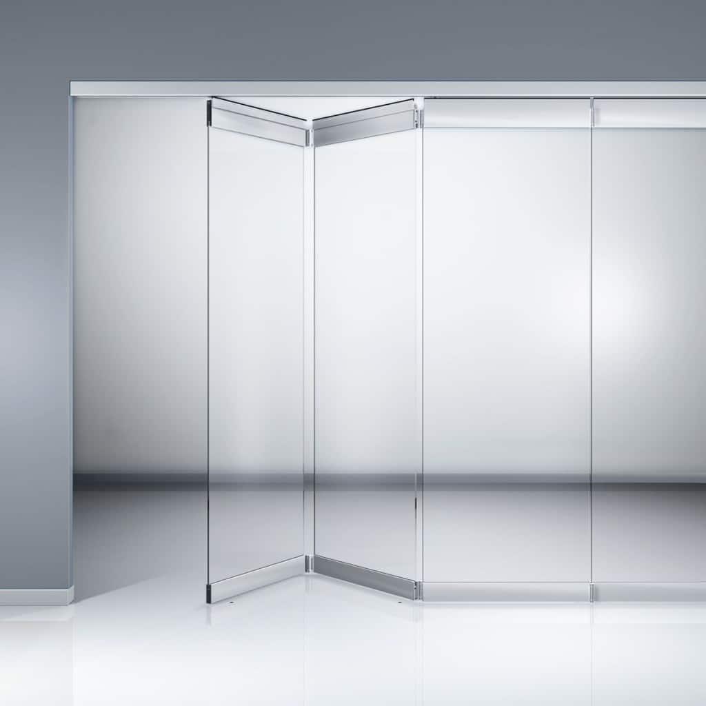 Cianki szklane sk adane na 100 dobra cena baumax pozna for Retractable glass wall system
