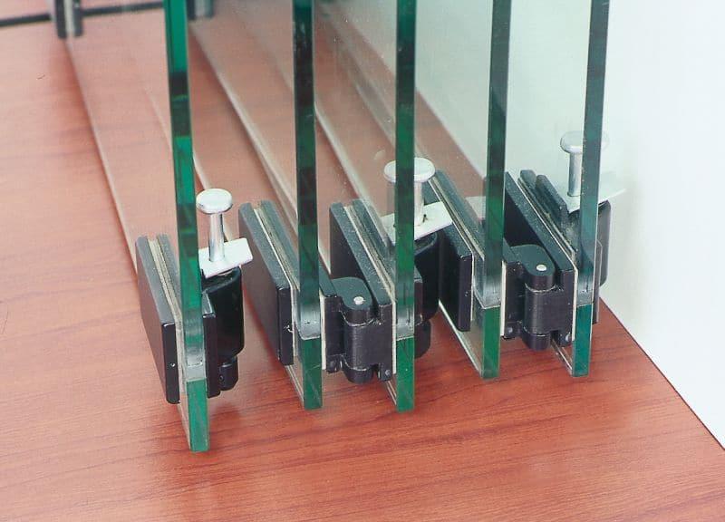 Ścianki szklane składane